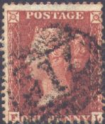 1855 1d Red SG24 Plate 7 'FL'